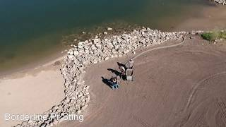 Landscape curbing - Misty waters drone footage - borderlineusa.com