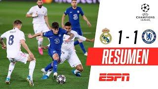 ¡LLUVIA TORRENCIAL, PARTIDAZO Y EMPATE EN VALDEBEBAS! | Real Madrid 1-1 Chelsea | RESUMEN