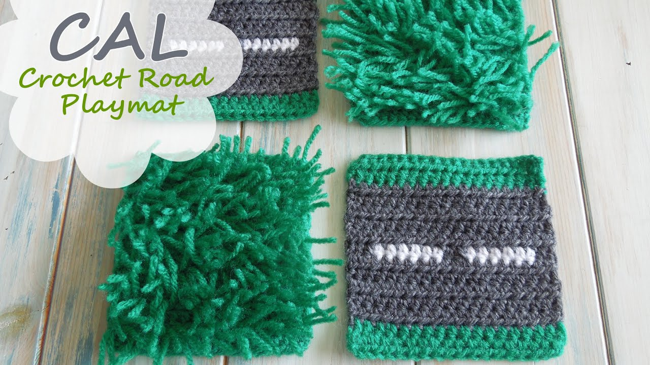 How To Crochet Straight Road Amp Grass Loop Stitch Cal