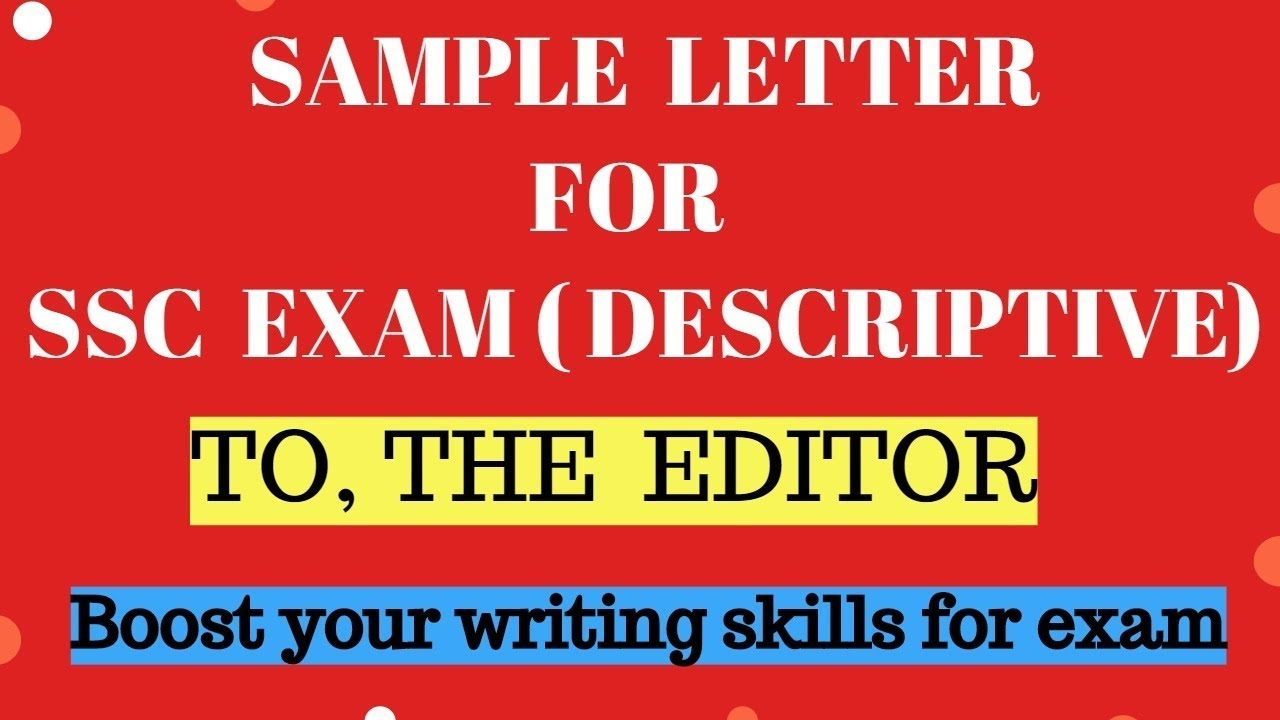 to the editor sample letter