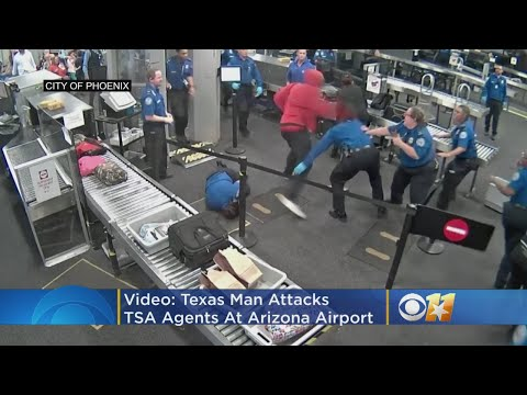 VIDEO: Texas Man Seen Attacking TSA Agents At Phoenix Airport