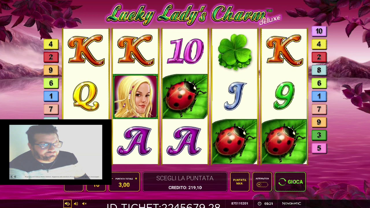 Lucky Ladys Charm Deluxe 6 Slot Machine