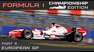 F1 Championship Edition Career Mode Season 2 - Round 5 European Grand Prix