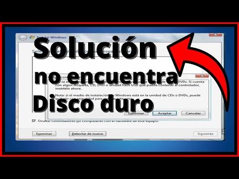 """no detecta disco duro al instalar windows 7 """"solucion"""""""