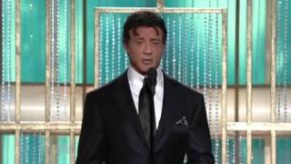 GOLDEN GLOBE 2011 - Sylvester Stallone premia The Fighter