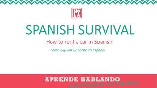How to rent a car in Spanish