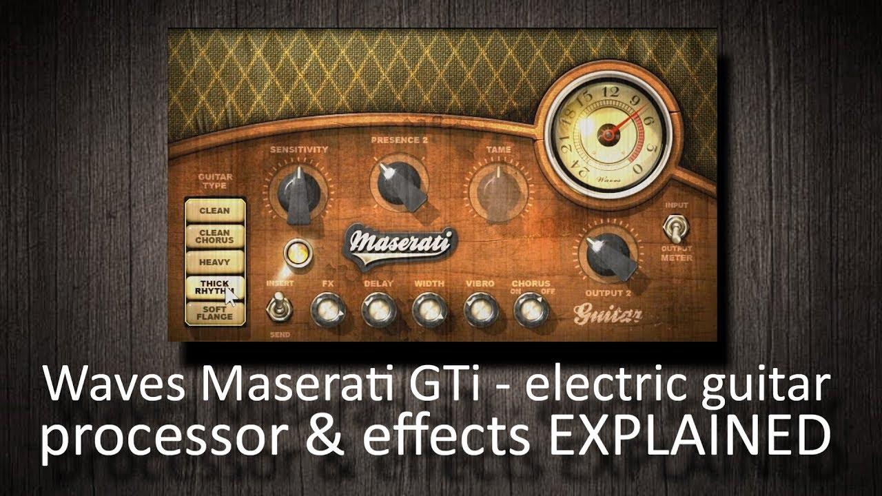 Waves Maserati Acg Acoustic Guitar Processor Explained Youtube