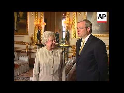 Aus PM Rudd meets UK Queen Elizabeth II