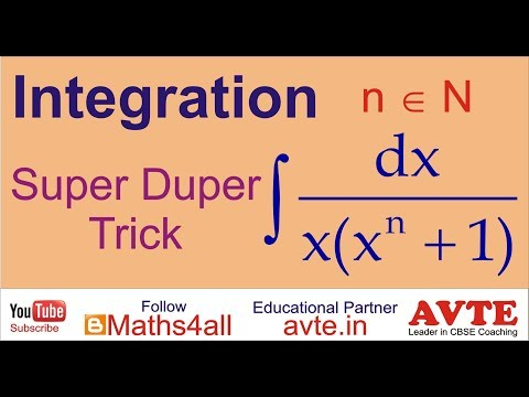 Super Duper trick Indefinite Integration ( XII CBSE NCERT State Boards International Students )