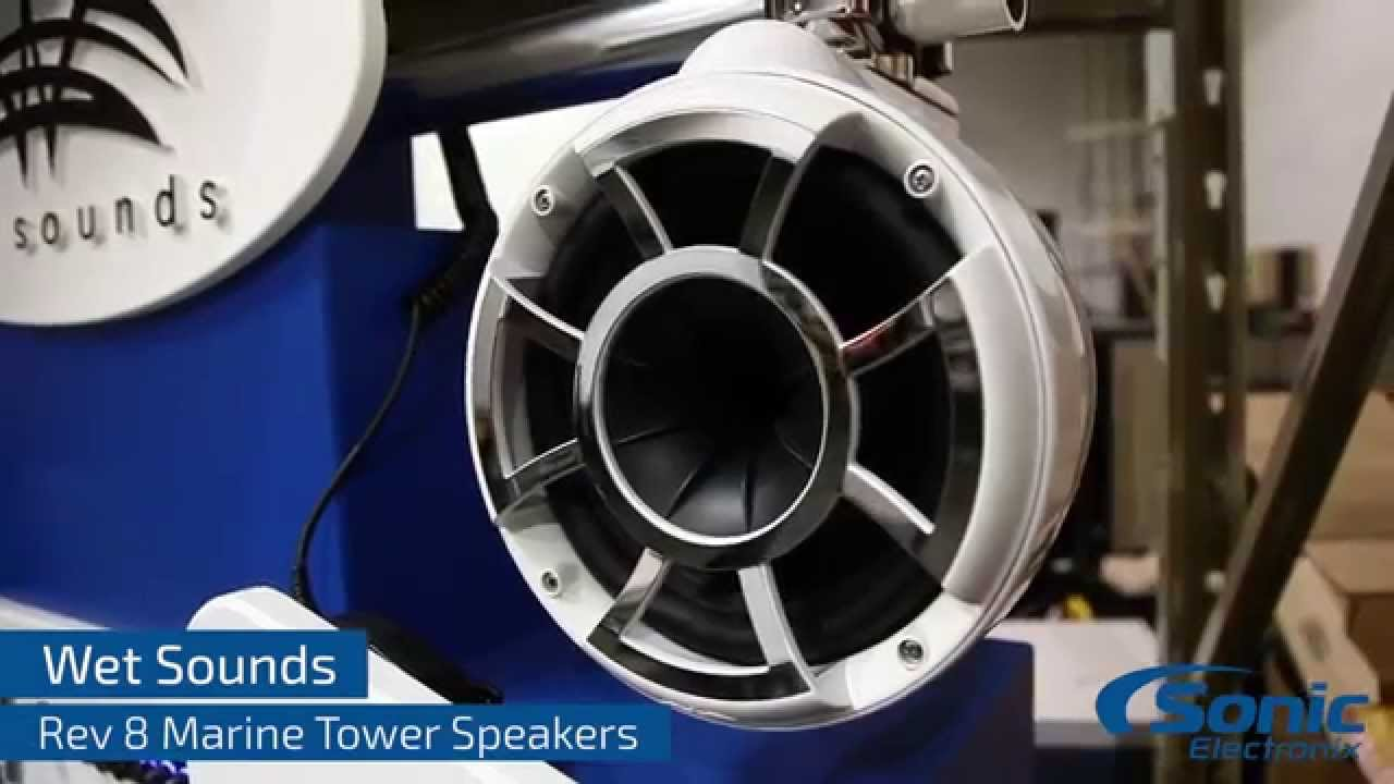 Wet Sounds Rev 8 Marine Tower Speakers Youtube