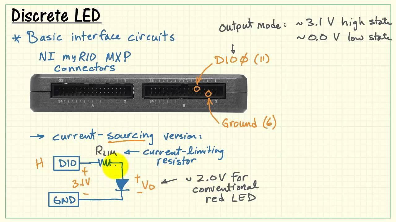Ni Myrio Discrete Led Youtube Circuit With Discoloring Lightemitting Diode Basiccircuit