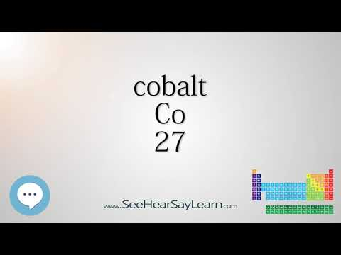 cobalt - Periodic Table of Elements ⛏🔊