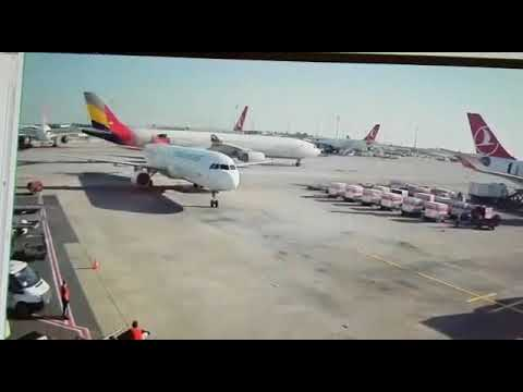 Horror moment two plane collide on Istanbul's Ataturk Airport 1