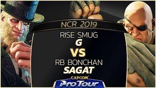 RISE Smug (G) vs RB Bonchan (Sagat) - NCR 2019 - Top 16 - CPT 2019