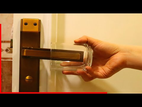 Put a Glass on Your Door Handle, It Will Save Your Life!
