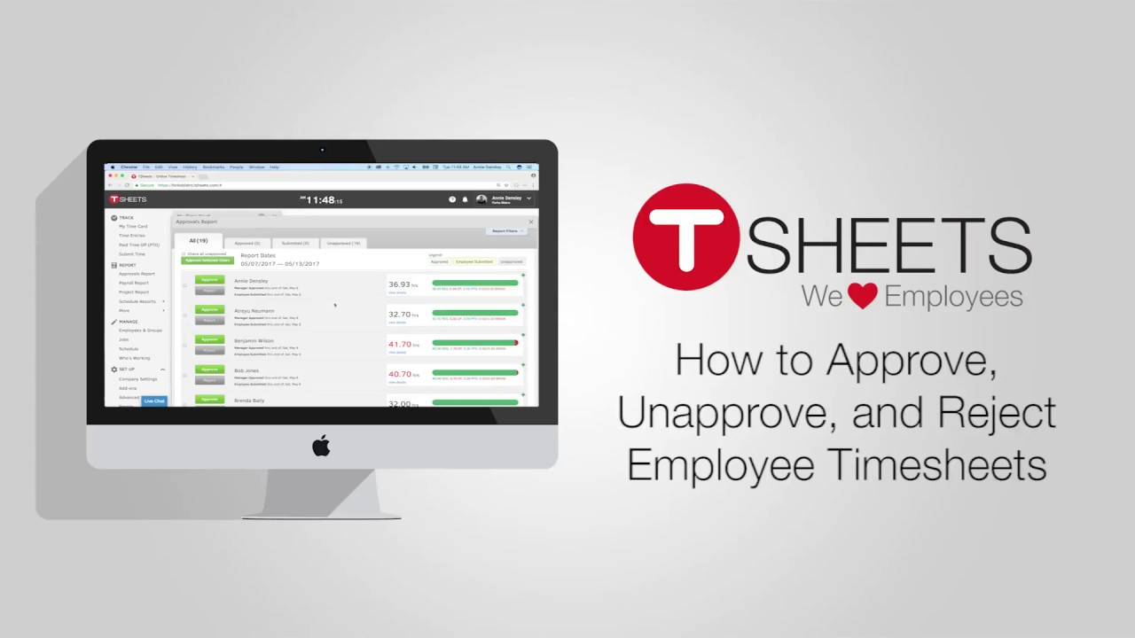 how to approve unapprove and reject employee timesheets youtube