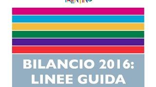 Linee guida Finanziaria 2016 con commento del Presidente Rossi