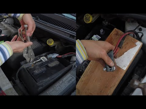 How To Remove A Badly Corroded Car Battery, Replace With New