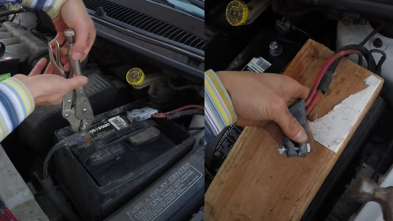 How To Remove A Badly Corroded Car Battery Replace With New Youtube