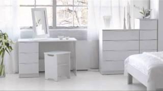 Alpine White High Gloss Bedroom Furniture