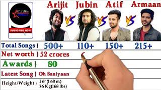 Arijit Singh vs Jubin Nautiyal vs Atif Aslam vs Armaan Malik Comparison Video 2021