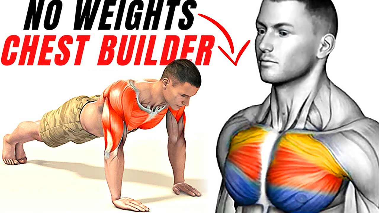 How to Build Chest Muscle with Push Ups No Weight!