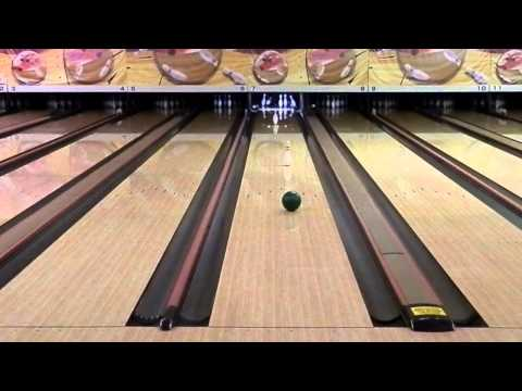 Spinning Bowling Ball Trick Shot!