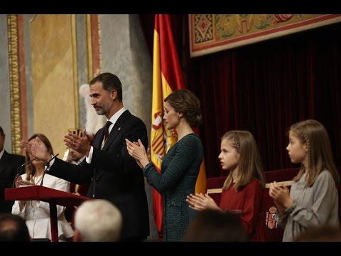 SS.MM. los Reyes presiden la Solemne Apertura de las Cortes Generales