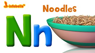 Phonics Songs | N is for Noodles | Infobells