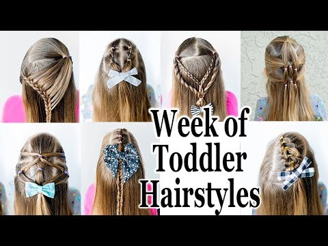 10 Cute 1 Minute Hairstyles For Little Girls Youtube