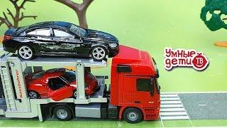 Мультфильмы про машинки  Авария на дороге  Видео для детей Пожарная и Полицейская машина