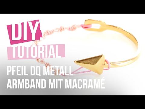 DIY Tutorial: Selbst Schmuck machen – Basis Armband Pfeil aus DQ mit Macramé