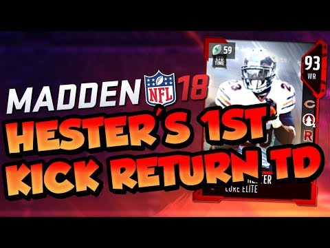 Madden 18 Ultimate Team :: Devin Hester's 1st Kick Return for a Touchdown :: Madden 18 Ultimate Team