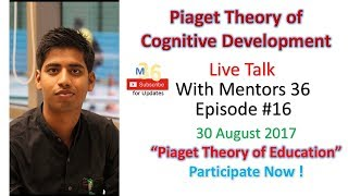 Episode 16 Piaget theory of Cognitive Theory with Experiments and Example  Pedagogical Web-series