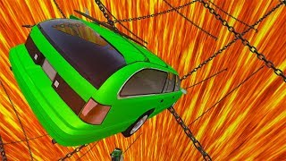 Beamng drive - Jumping In Chained Volcano High Speed Car Jumps #2