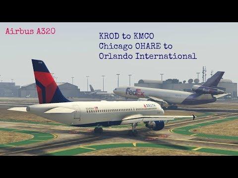 Flight Simulator    KORD to KMCO  Chicago O'hare to Orlando Interrnational