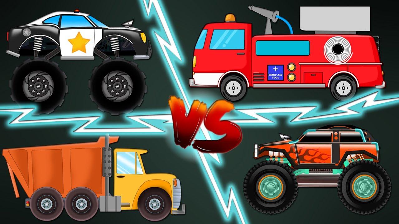 Big Trucks   Police Monster Truck   Monster Truck   Fire ...