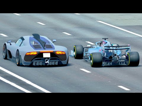 Mercedes-AMG Project One vs Mercedes F1 2020 - Drag Race 20 KM