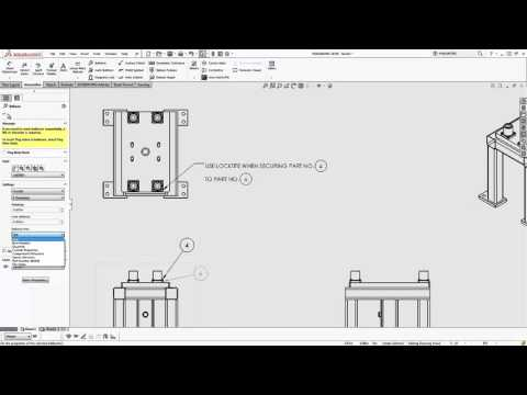 SOLIDWORKS - Adding Drawing Annotations to Notes