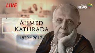Struggle veteran Ahmed Kathrada funeral service