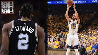 Warriors Storm Back to Beat Spurs 113-111 [Kawhi Leonard Injured]