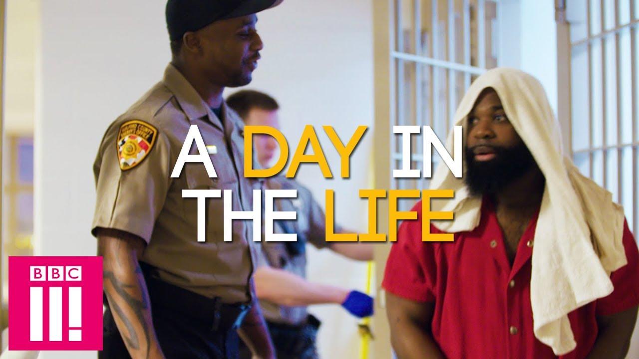 Inmates and guard
