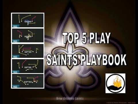 MADDEN 18 TOP 5 OFFENSIVE PLAYS FROM MY NEW ORLEANS SAINT PLAYBOOK SCHEME