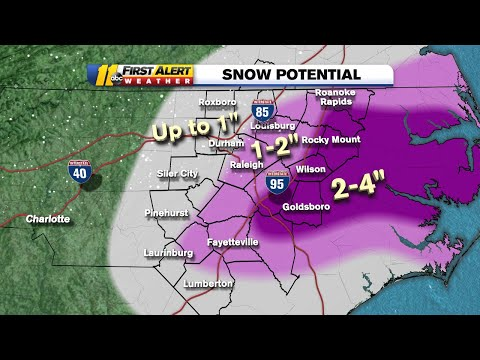 NC Weather: Snow Chances Increase For Much Of North Carolina