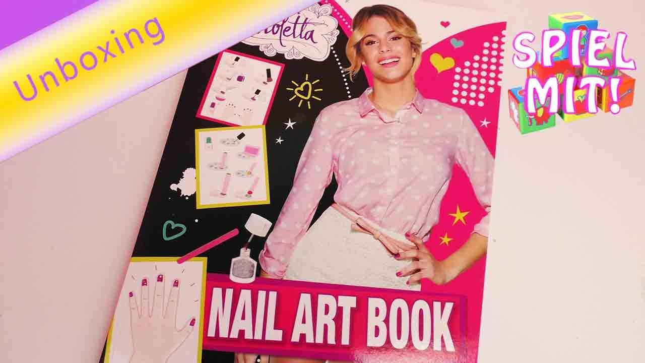 Weihnachtskalender Von Violetta.Violetta Nail Art Book Von Disney Unboxing Nageldesign Malbuch Von Violetta