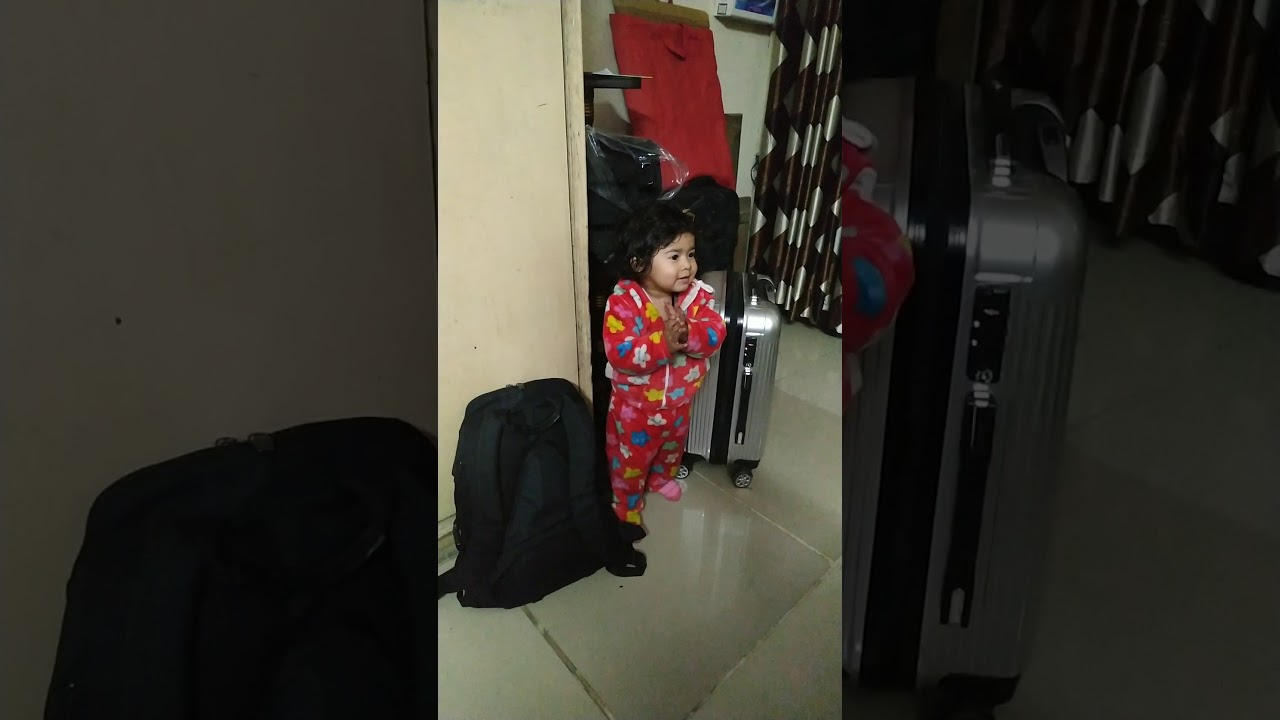 Two Years Baby's Reaction, When Father Is Going Out Side in Lock Down...