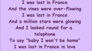 Lost in France- Lyrics Bonnie Tyler