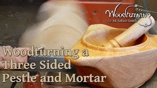 56 Woodturning Project - Pestle and Mortar