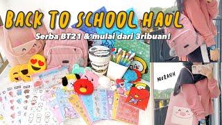 BACK TO SCHOOL SHOPEE HAUL! Murah bangett serba BT21 😍 Tas, notebook, sticker, sticky notes BTS!