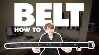 Punk Belt - How to Make Any Belt (DIY)